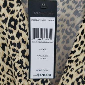 BCBGMaxAzria Dresses - BCBGMaxazria Leopard Print Faux Wrap Dress